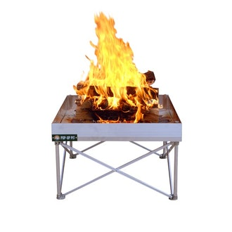 Fireside Outdoor Pop-Up Fire Pit and Heat Shield Combo