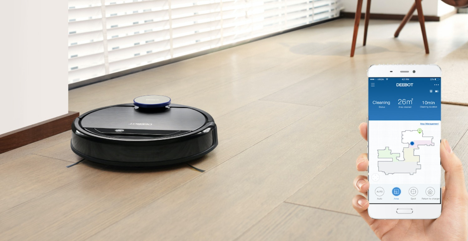 ECOVACS DEEBOT OZMO 930, Smart Robotic Vacuum, for Carpet, Bare Floors, Pet Hair, with Intelligent Mapping, OZMO Mopping Technology, Adaptive Floor Sensing Technology, and Compatible with Amazon Alexa and Google Home app
