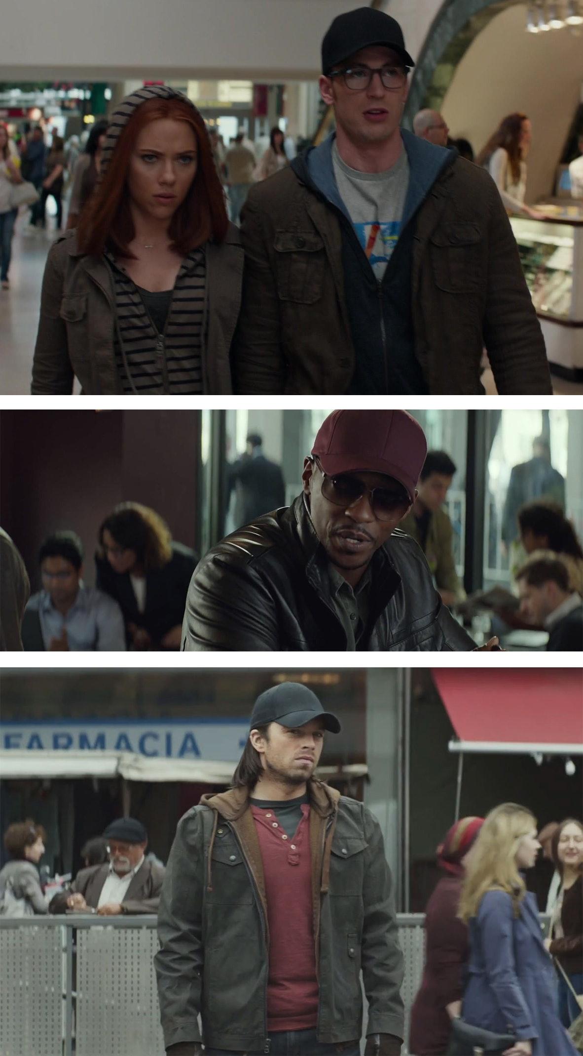 Captain America sucks at disguises.