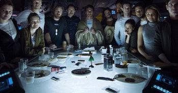 James Franco in a scene that doesn't appear in 'Alien: Covenant'