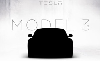 Tesla Model 3 promotional teaser image