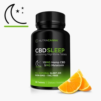 CBD and Melatonin Dissolvable Sleep Tablets