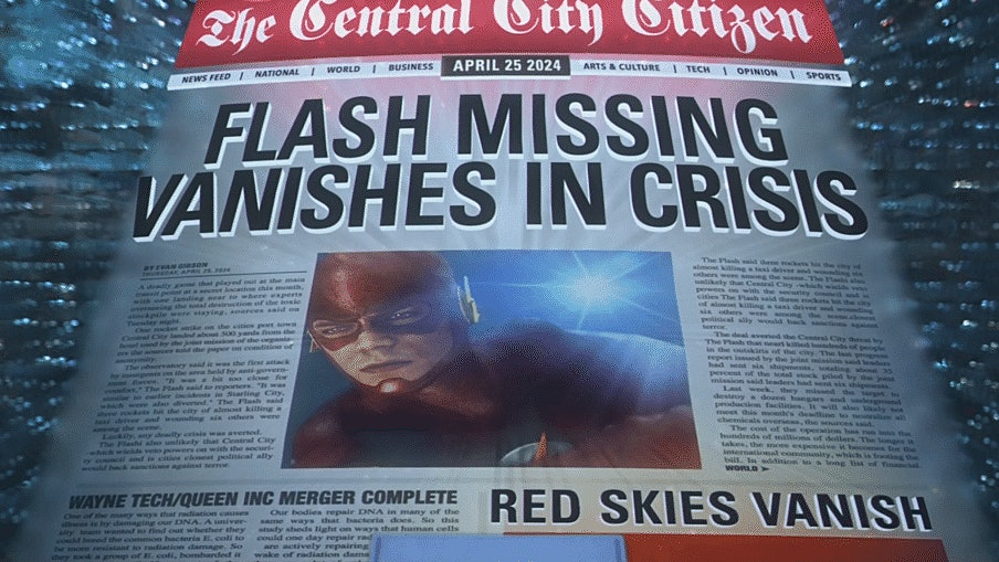 The Flash Vanishes in Crisis