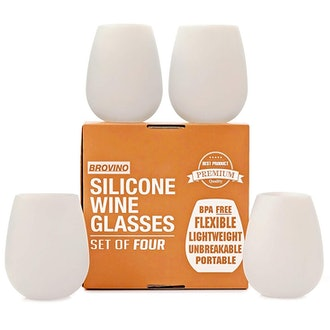 BrovinoSilicone Wine Glasses - Set of 4