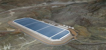 How the Gigafactory will look when complete.