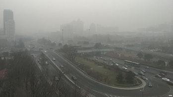 北京东长安街建国门立交桥