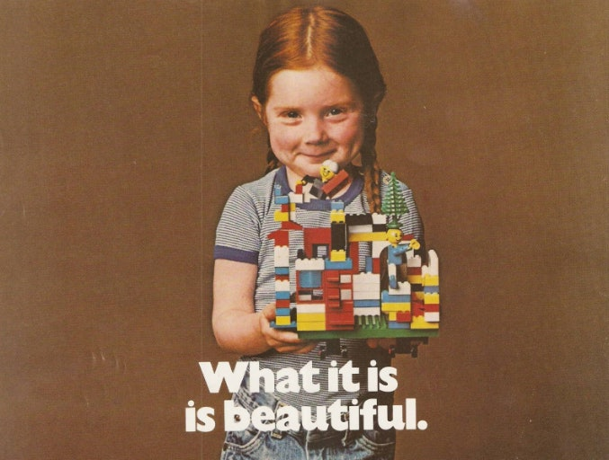 This Lego ad from the early '80s puts the focus on creative learning.
