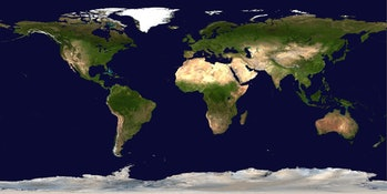 world satellite map