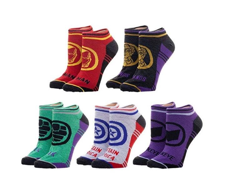 5-Pack Marvel Avengers Socks