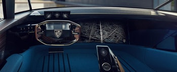 Peugeot E-Legend interior.