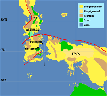 Westeros Essos map Game of Thrones