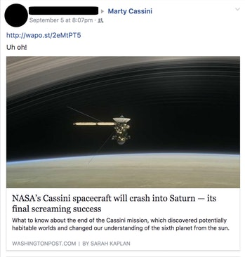 cassini facebook post