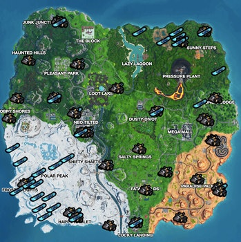 Fortnite Driftboards and Quadcrasher locations