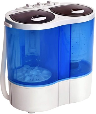 Giantex 16lbs Portable Mini Washing Machine Gravity Drain Compact Twin Tub Washer Spinner