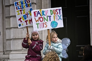 Global Climate Strike in London in March, 2019.
