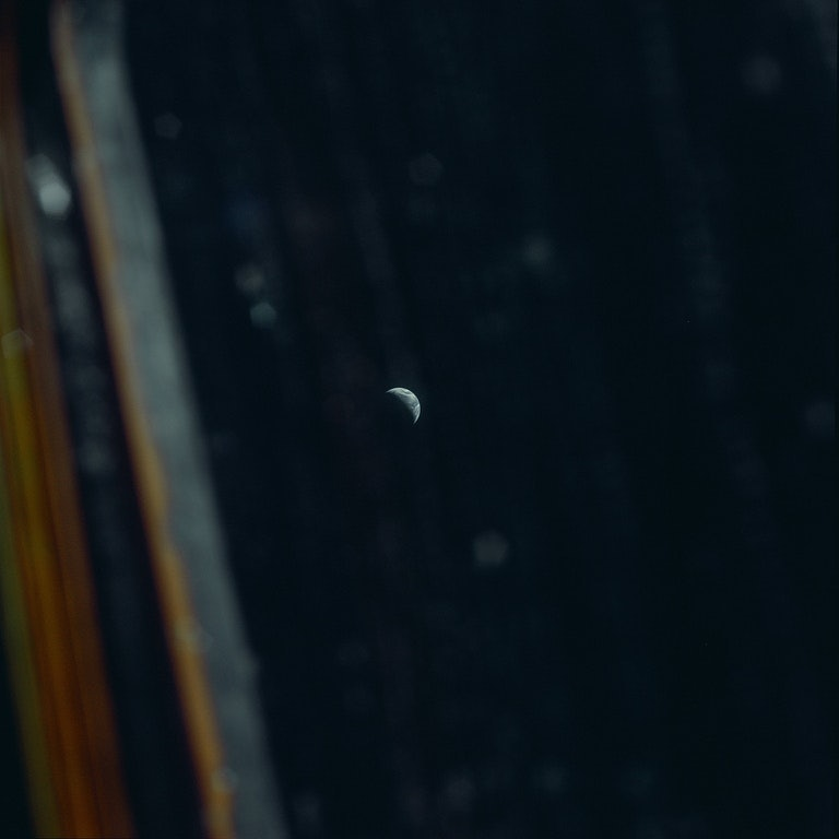 picture of earth taken by apollo 12 astronaut alan bean during his voyage to the Moon
