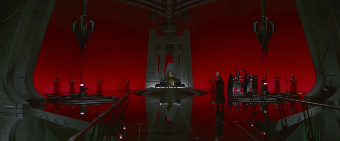 Snoke's throne room is seriously imposing, but he probably wasn't always this grandiose.