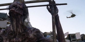 A helicopter appears on 'The Walking Dead'.