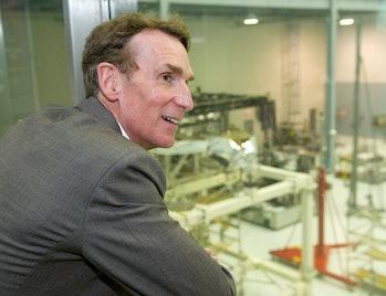 Bill Nye visits Goddard Space Flight Center
