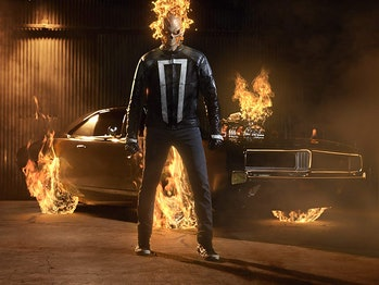 Gabriel Luna as Ghost Rider on 'Agents of S.H.I.E.L.D.'