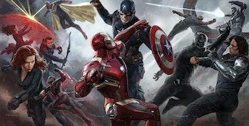 Captain America fights alongside Black Panther in 'Civil War' (2016)