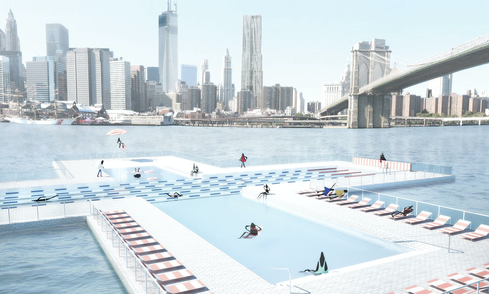 pool, East River