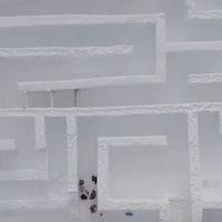 Get Lost in Poland's Massive, Record-Breaking Ice Maze