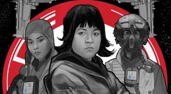 Cover art for 'Cobalt Squadron' features the three surviving members.