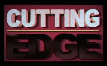 'Cutting Edge' title card from 'Stranger Things'