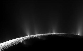 Icy plumes on Enceladus