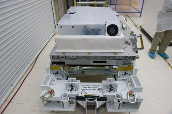 One of the four HD cameras attached to the ISS.