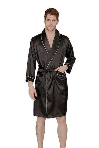 MAGE MALE Men's Summer Luxurious Kimono Soft Satin Robe
