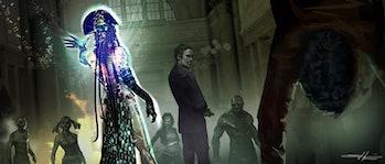 Joker and Enchantress concept art for 'Suicide Squad'