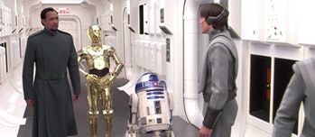 C-3PO in 'Revenge of the Sith' right before Jimmy Smits erased his memory.