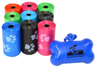 Downtown Pet Supply Dog Poop Bags with Leash Clip and Bag Dispenser