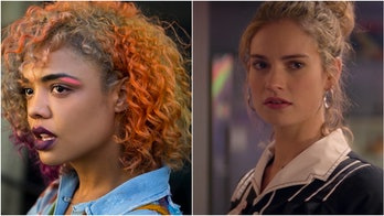 Tessa Thompson as Detroit in 'Sorry to Bother You' and Lily James as Debora in 'Baby Driver'.