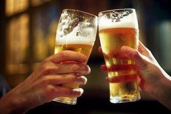 Cheers, pint glasses