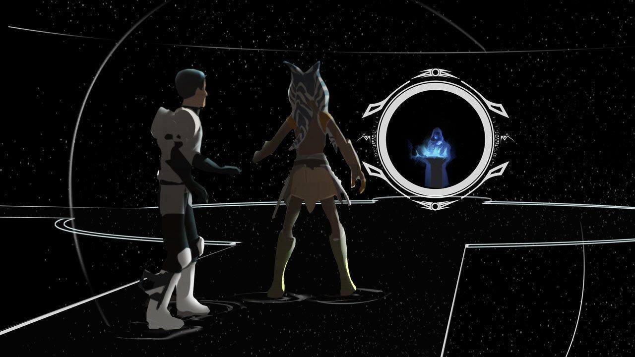 Ezra and Ahsoka face Palpatine in the World Between Worlds