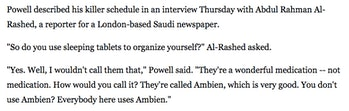 colin powell ambien