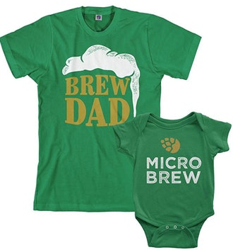 Brew Dad & Micro Brew Infant Bodysuit & Men's T-Shirt Matching Set