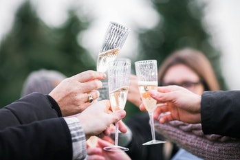 champagne toast friends
