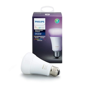 Philips Hue Single Premium Smart Bulb, 16 million colors, for most lamps & overhead lights, Hub Required, Works with Alexa, Apple HomeKit and Google Assistant