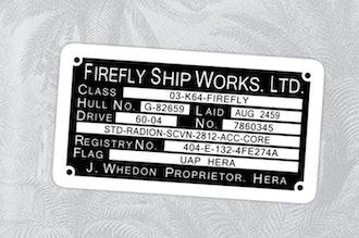 Firefly Ship Works Ltd. Sticker Sticker