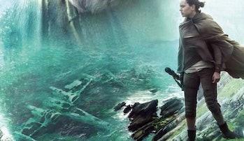 Luke Skywalker's crashed X-Wing in 'The Last Jedi'