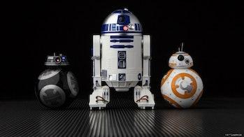 Lucasfilm's Sphero droids: the evil BB-9E, classic R2-D2, and adorable BB-8