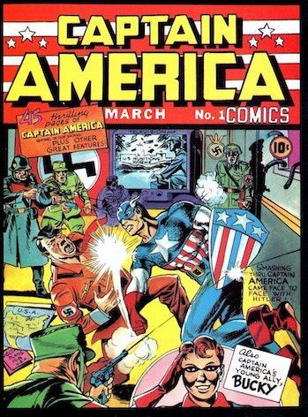 Captain America Hitler Jack Kirby