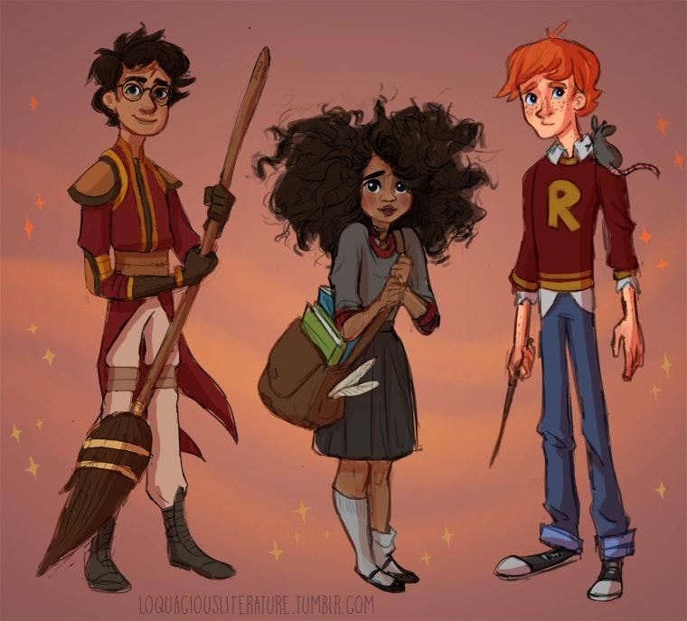 Harry Potter Fan Art Looks To Diversify J K Rowling S Work