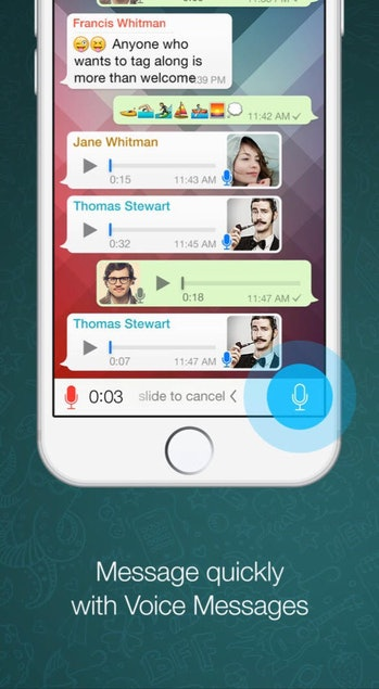 WhatsApp promo for new voice messaging