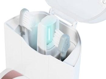 Platinum Sonic Toothbrush & UV Sanitizing Charging Base With 2 Bonus Brush Heads (Rose Gold)