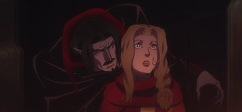 Dracula and Lisa in their first encounter.